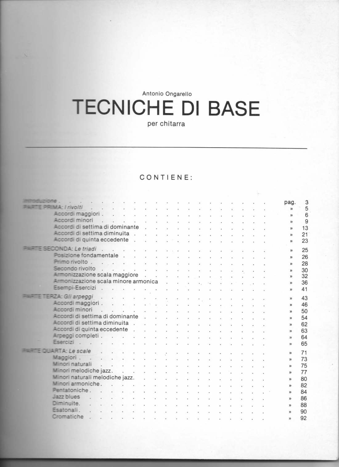 Tecniche di base Indice